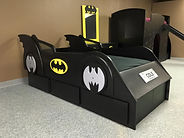 Car bed in a Batman theme