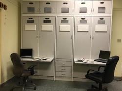 Locker Wall Two Desk