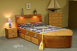 Custom bed that looks like a boat