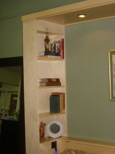 Inset bookcases