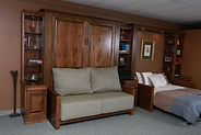 Murphy bed two large door face and fluting