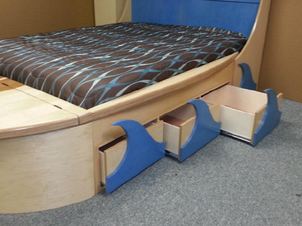 Surfboard Bed Drawers