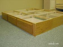Low drawer pedestal