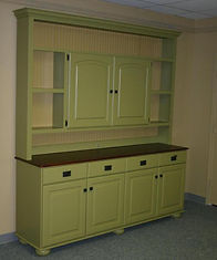Farmhouse Base cabinet and hutch for dining room.
