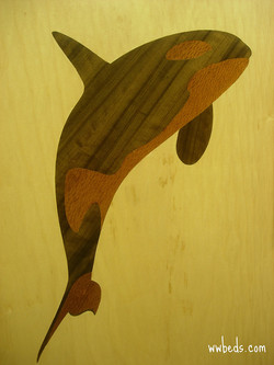 Whale Marquetry Left