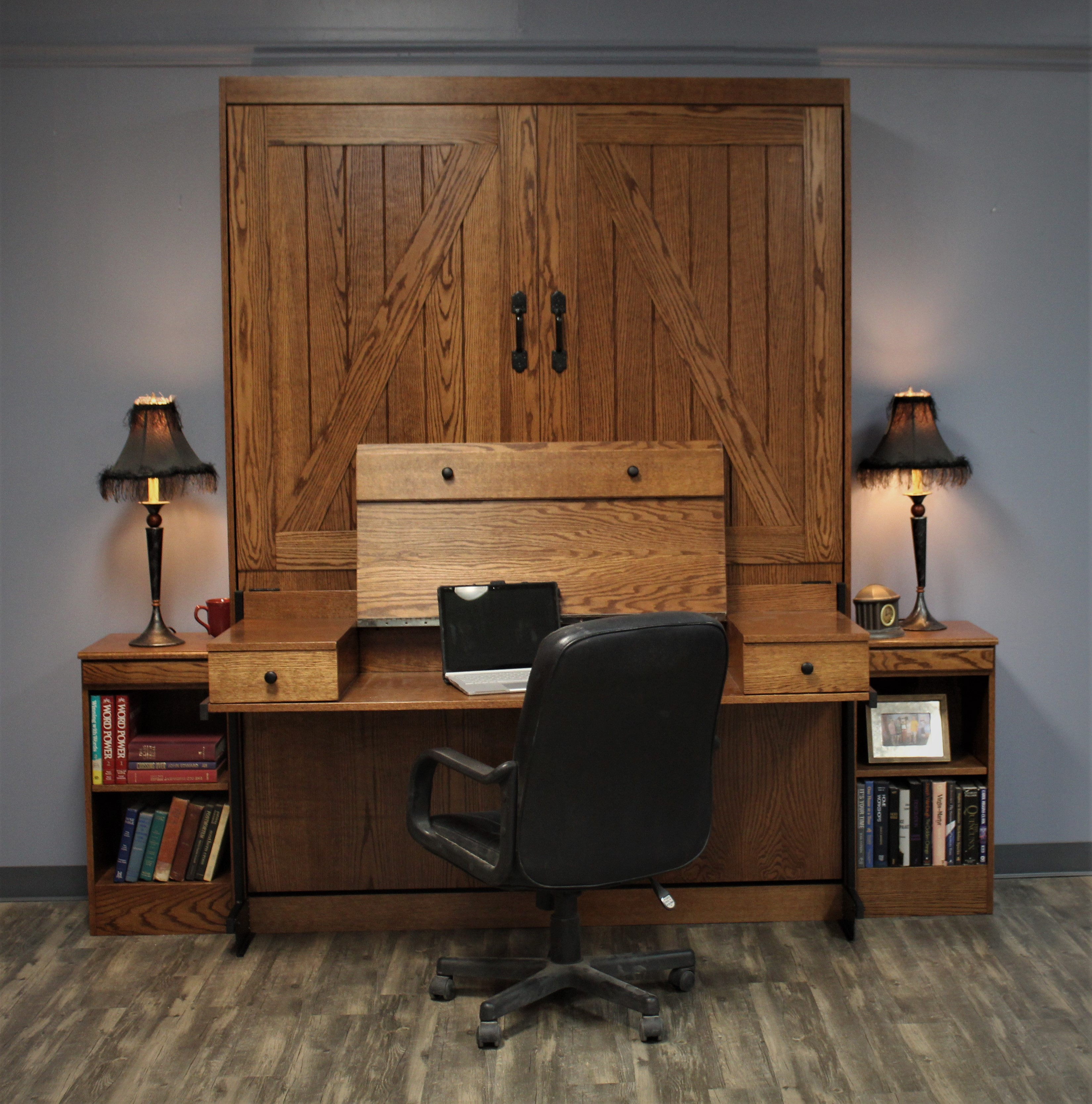 Barn Door #1219--0120 Desk Open