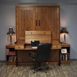 Barn Door Desk Open