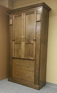 Murphy bed with a desk in a shaker style