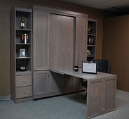 Murphy bed with a Mission or Craftsman style