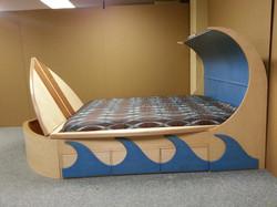 Surfboard bed open