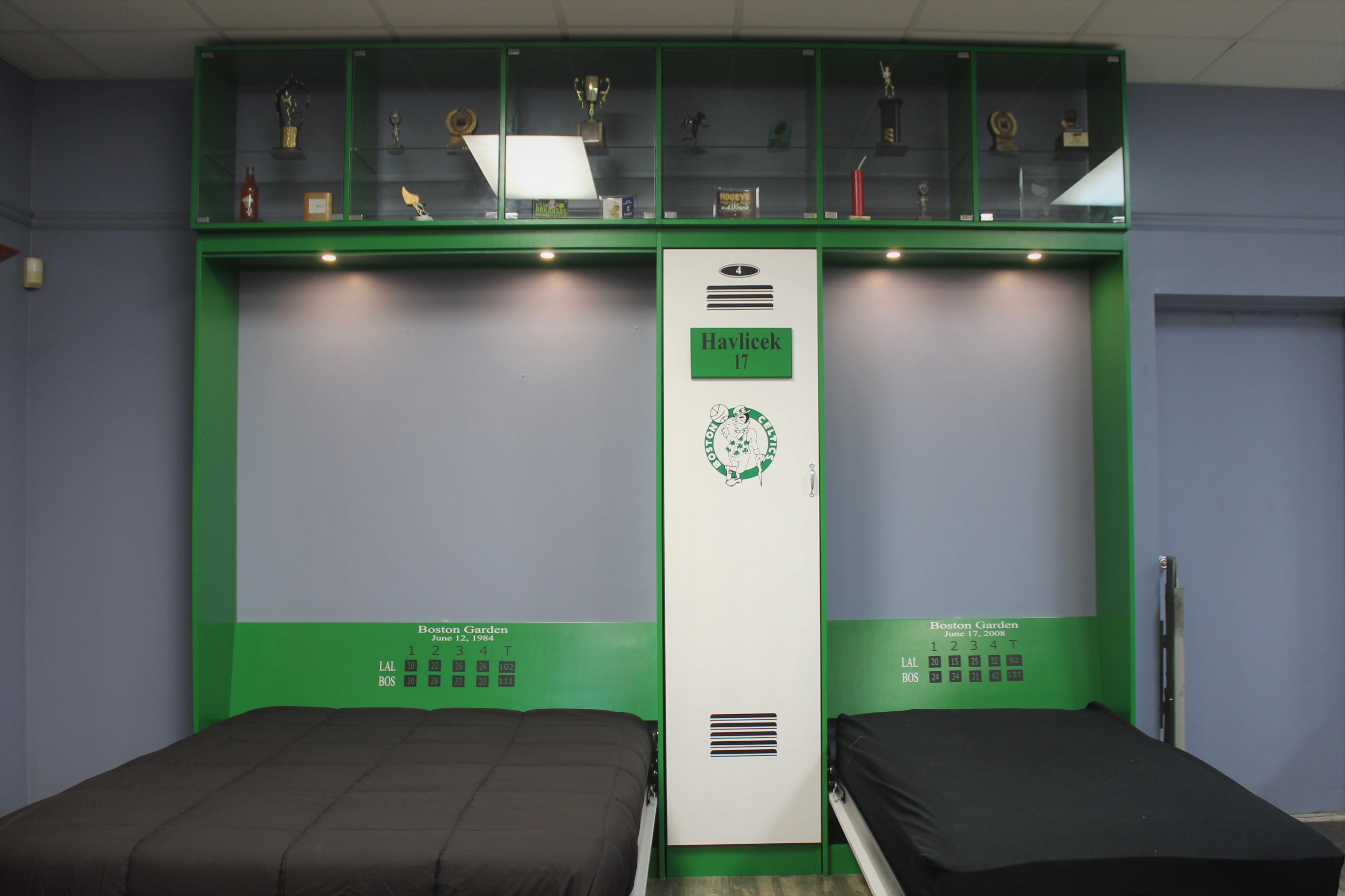 Celtics Bookcase Closed