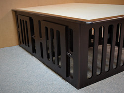 Double Kennel Bed Doors closed