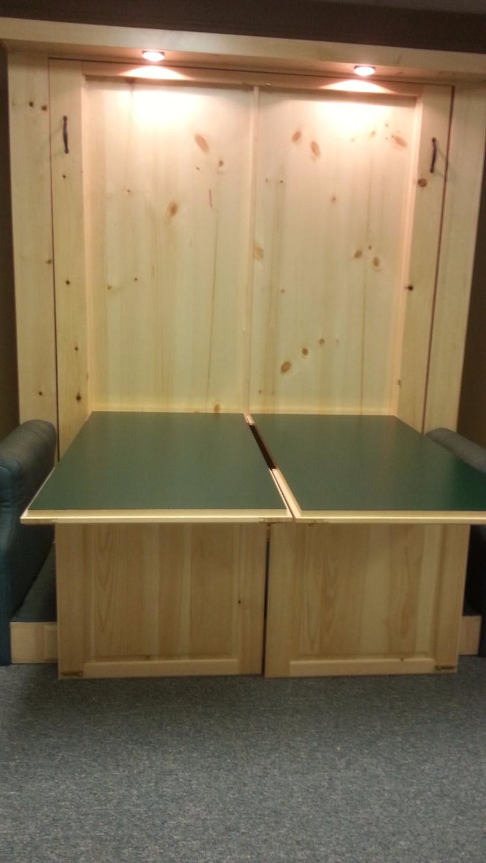 Murphy bed desk open