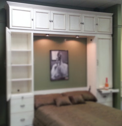 Top bookcase over bookcases