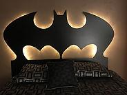 Loft or bunk with a batman bat cave theme