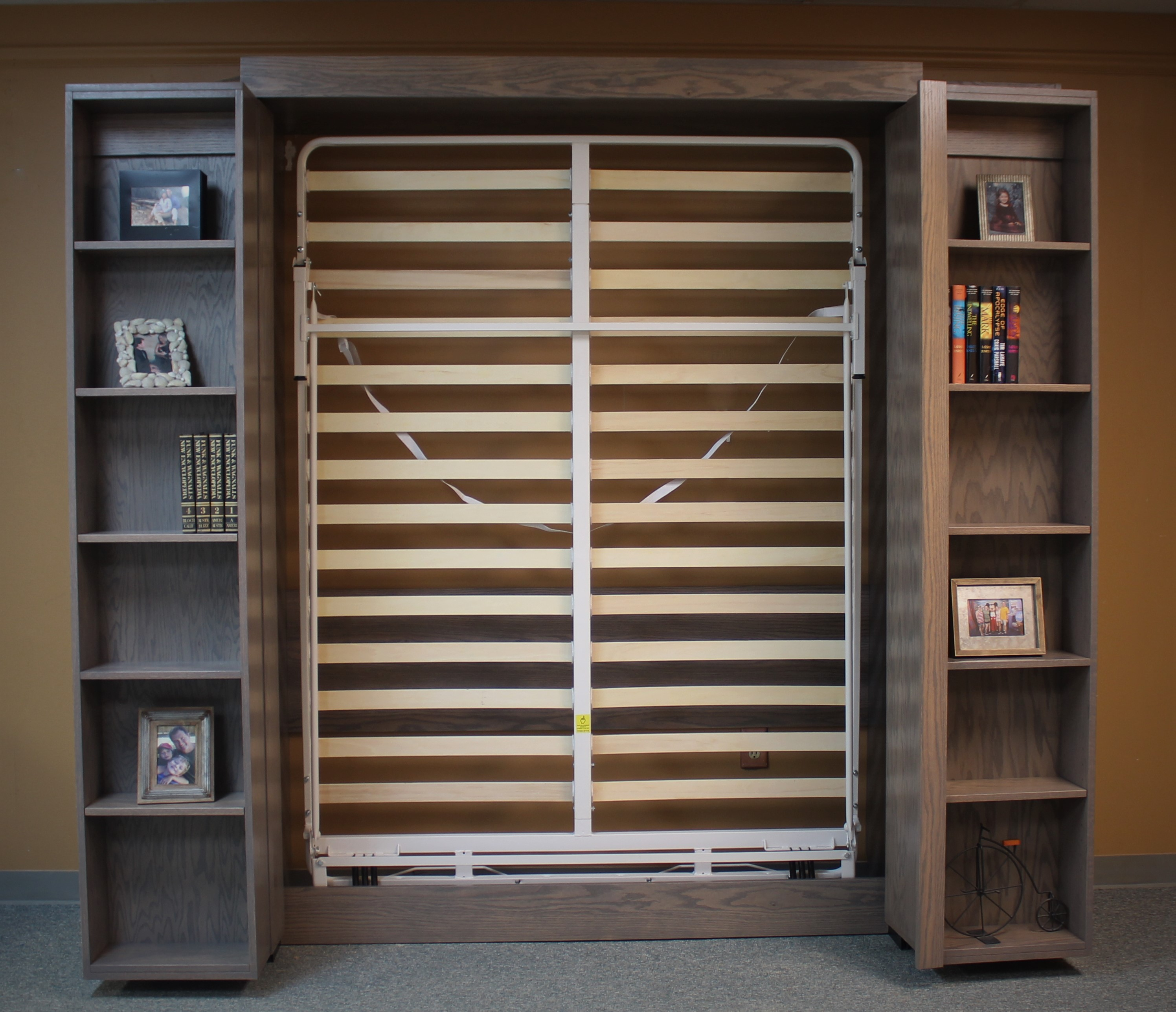Bookcase Murphy Bed Bookcases Open