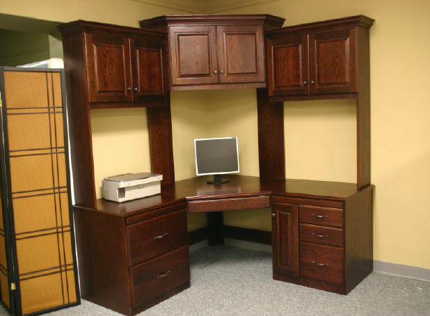 Dark Oak Corner Desk
