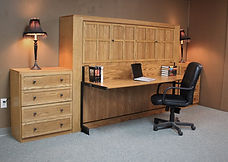 Murphy wall bed with a contemporary face.