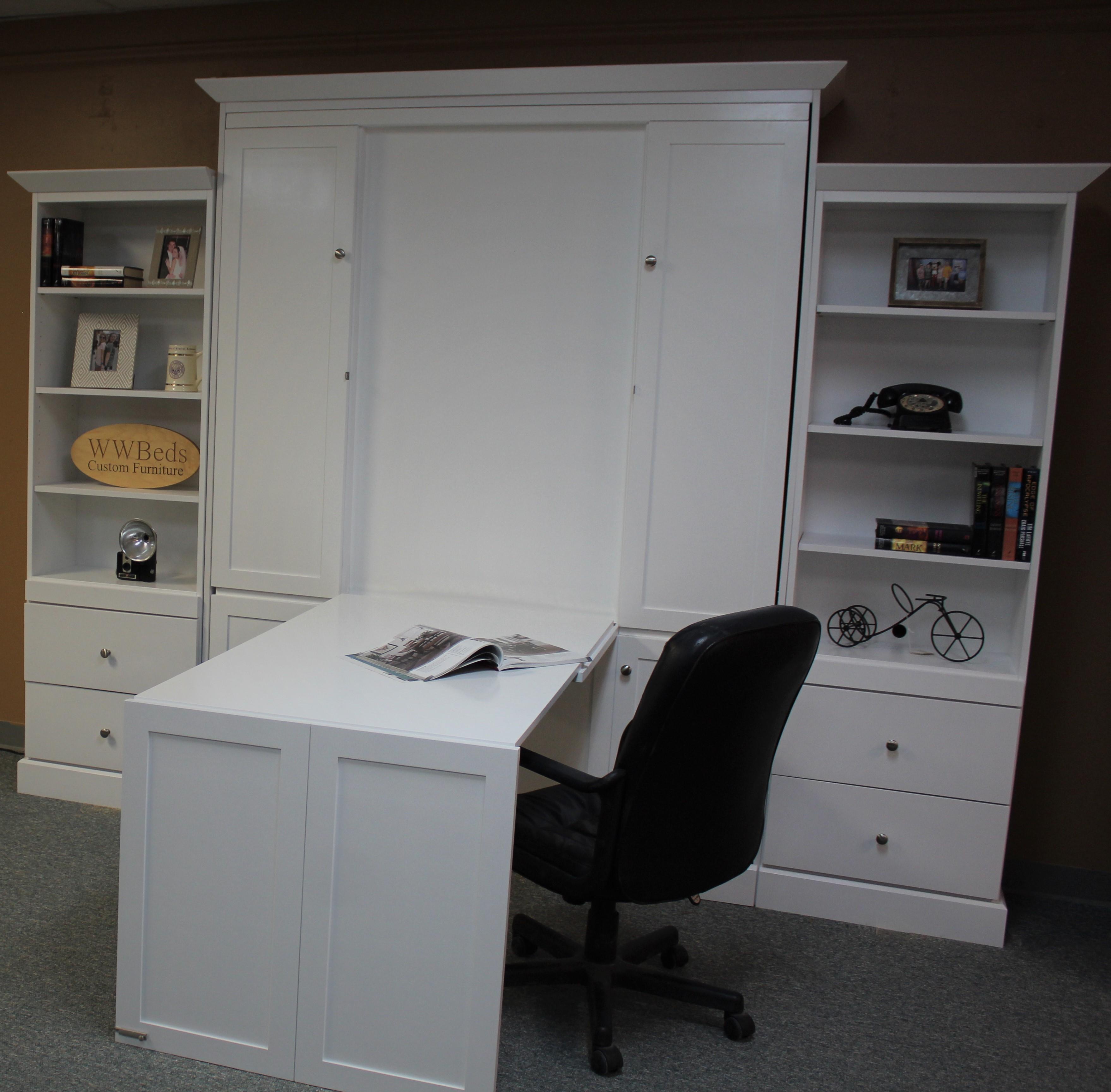 Shaker Murphy Desk Open