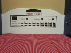 Atlanta Braves Scoreboard Headboard
