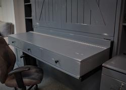 Barn Door Gray Desk Closed