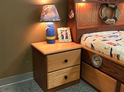 Oak Boat Nightstand