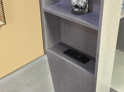 Inset bookcase charging station