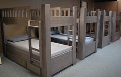 Gray Bunk Four Beds