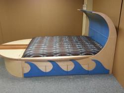 Surfboard bed side