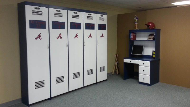 Atlanta Braves Locker Murphy Bed