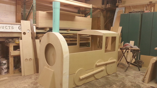 Train bed ready for finish