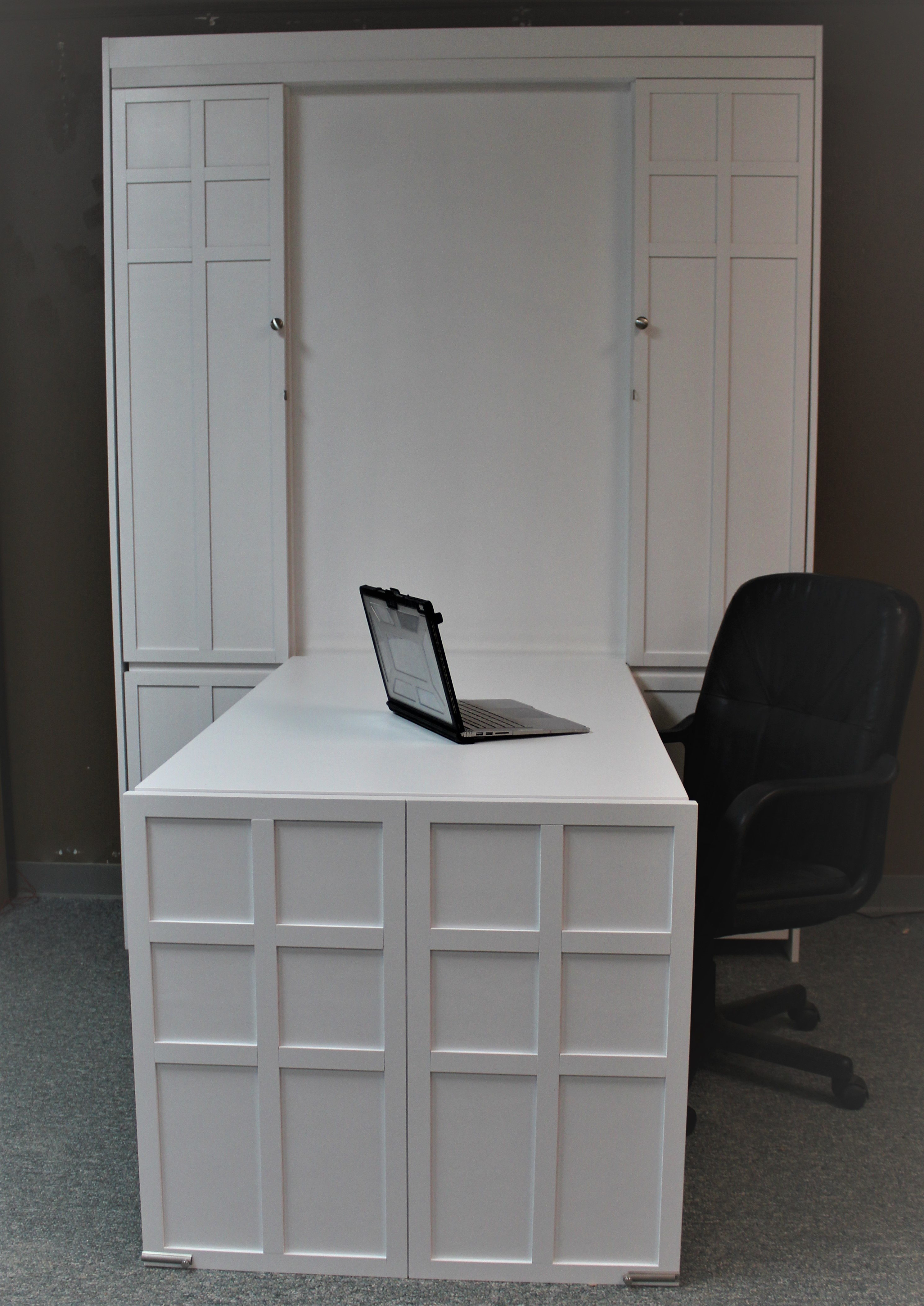 FLW White Desk Front