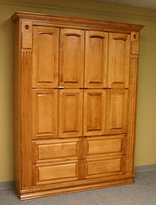 Murphy bed with lots of doors on the face