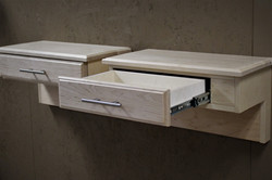 Maple Bed Drawer open