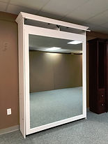 Murphy bed with mirror face