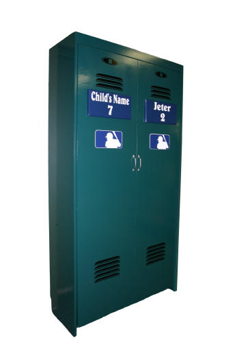 Standard Baseball Locker closed