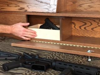 Covert Sliding Bookcase Headboard