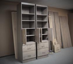 Precut 0521 Bookcase open