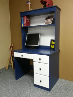 Baseball Desk and Hutch