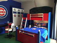Bseball bunk bed Cubs