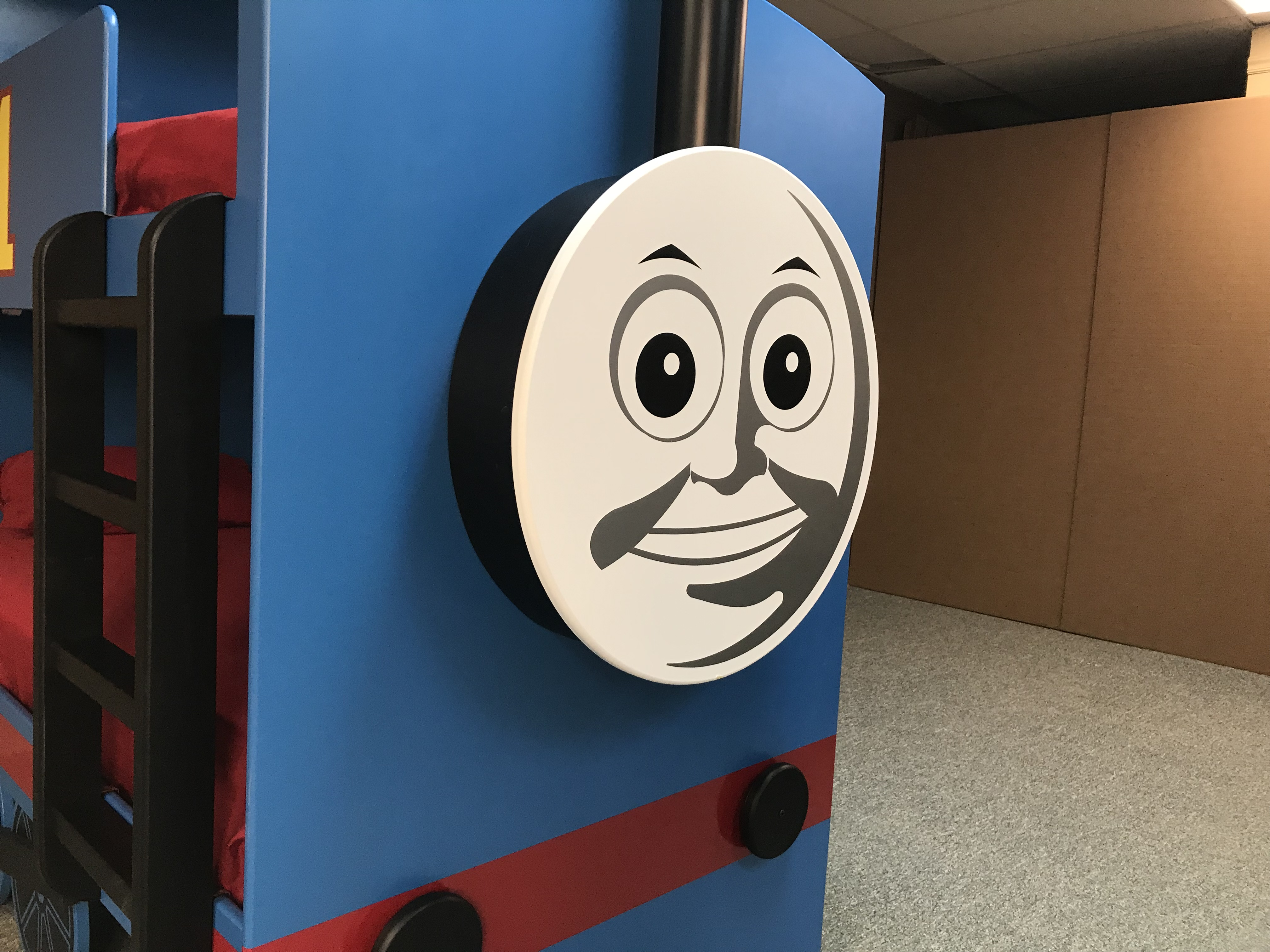 Thomas Train Bed Face