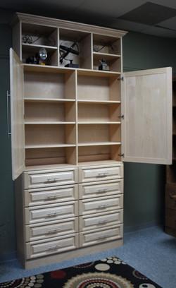 Maple Cabinet Open