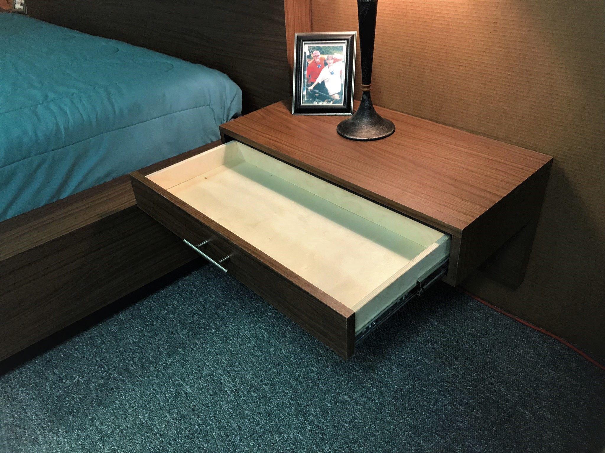 Floating Nightstand Open