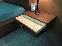 Floating Nightstand Open