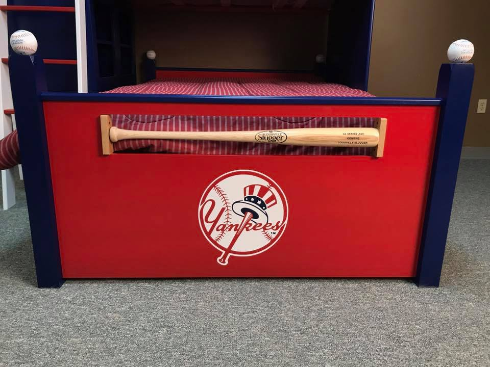 Baseball Loft Yankees Foot Board