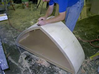 Plaining the bending ply