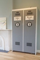 A folding wall bed designed to look like a Yankees Locker