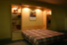 Murphy bed with lights added