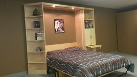 Manhattan Murphy wall bed shown with the bed closed up.