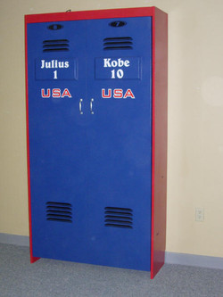 Basketball Murphy bed locker